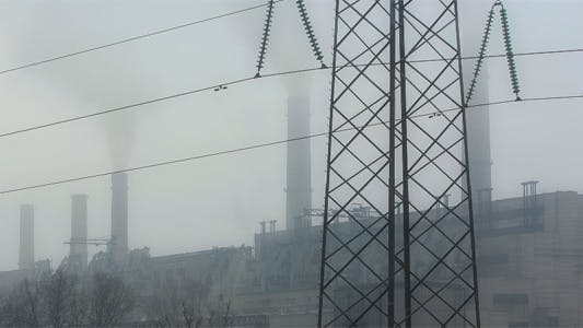 Thumbnail for Close Shot of Power Plant Time Lapse 3