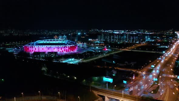 Cover Image for Freeway Intersection and Football Stadium Spartak Moscow Arena