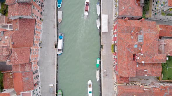 Thumbnail for Venice Italy View From the Top of the Canal and the Old Tiled Roofs of Houses