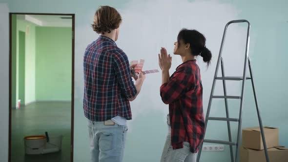 Thumbnail for Renovation Diy Couple Choosing Paint Colors