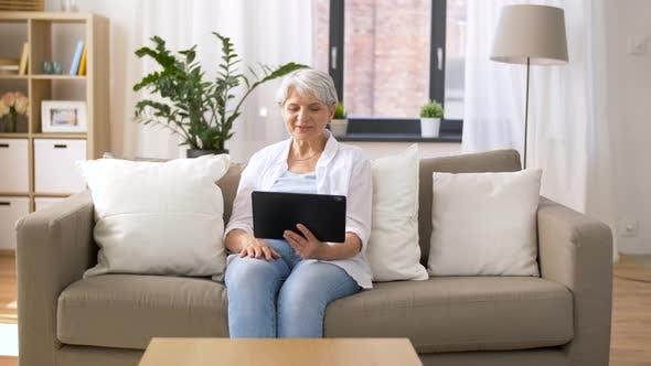Thumbnail for Senior Woman Having Video Chat on Tablet Pc 50