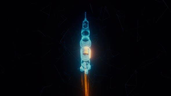 Flying Rocket Hologram Hd