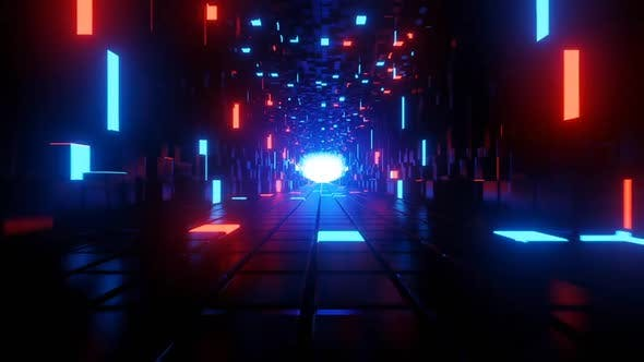 Abstract Neon Tunnel 03