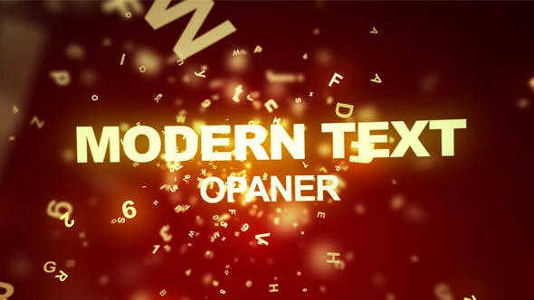 Cover Image for Modern Text Opener