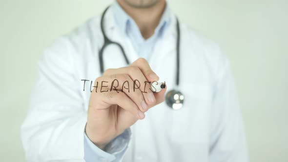 Thumbnail for Therapist, Doctor Writing on Transparent Screen