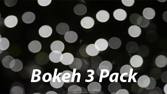 Thumbnail for Black and White Bokeh 3 Pack