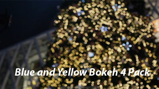 Thumbnail for Blue and Yellow Bokeh 4 Pack