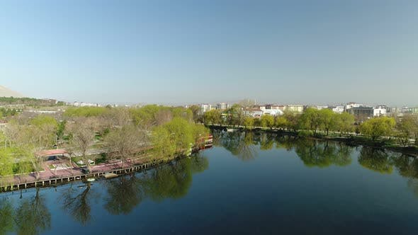 Thumbnail for Nature River And City Aerial View