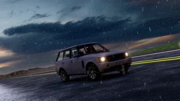 Thumbnail for Advancing Off-Road Vehicle in Snowfall