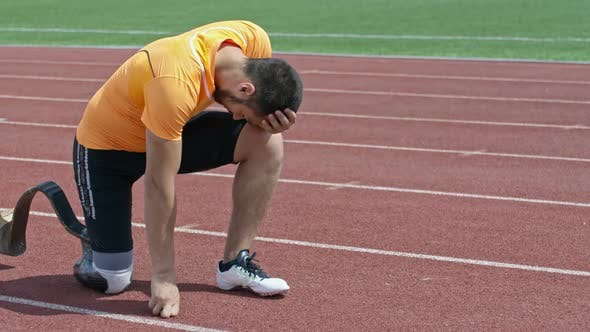 Thumbnail for Strong Amputee Athlete Continuing Training while Suffering from Pain