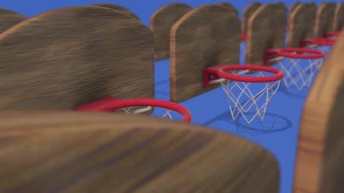 Multiple Basketball Hoops In A Row 4k