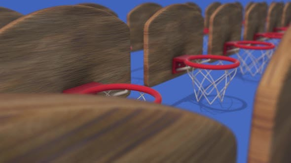 Multiple Basketball Hoops In A Row 4k