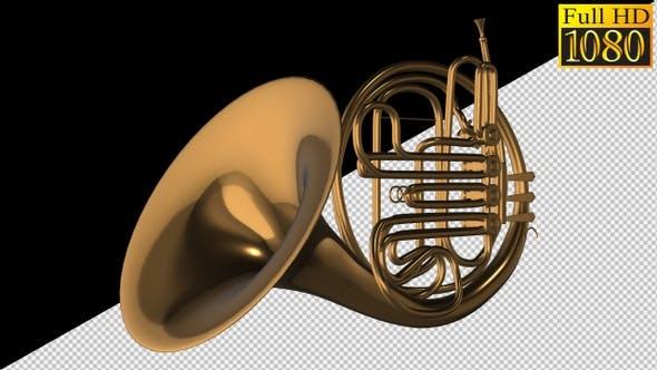 French Horn Waldhorn On Alpha Channel Loops V1
