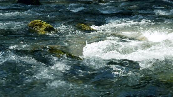Thumbnail for River Cascades Close Up in Waldbachstrub Near Hallstatt, Austria