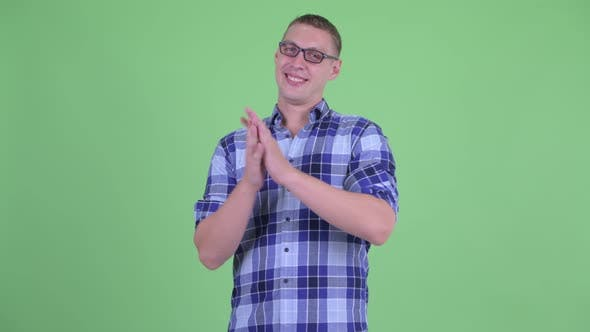 Thumbnail for Happy Young Hipster Man Clapping Hands