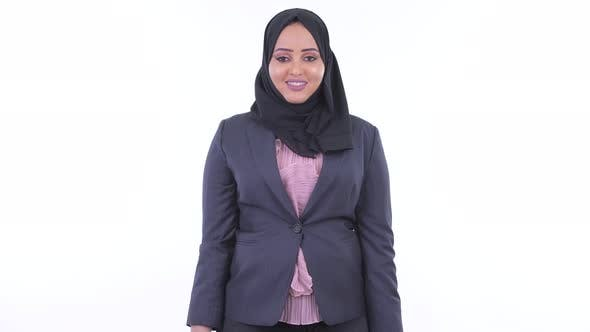 Thumbnail for Happy Young African Muslim Businesswoman Smiling