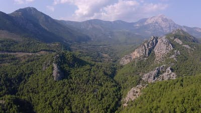 Scenery of Mountains Covered with Deep Forests