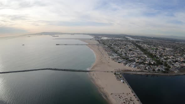 Thumbnail for Seal Beach California Aerial View Flying Above The Coast