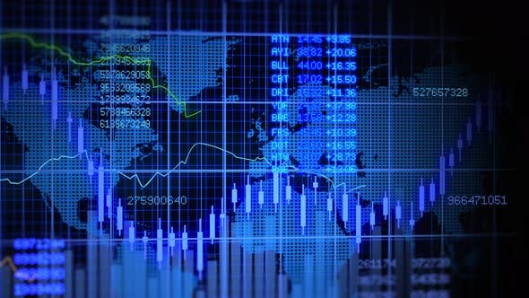 Thumbnail for Finance Exchange Corporate Price Growth Graphic Background