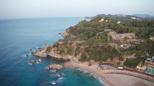 Thumbnail for Drone Flight Over Cape and Coast of Lloret De Mar