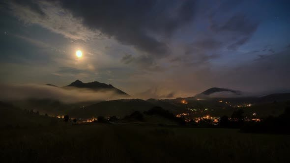Thumbnail for Moonlight over Rural Country