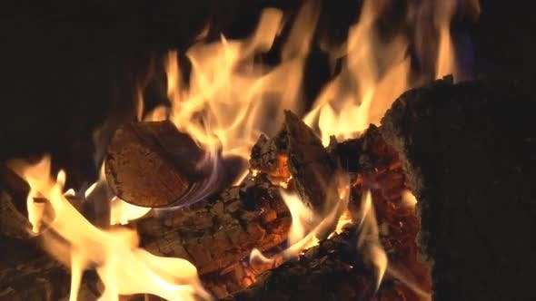 Cover Image for Wood Burning In Fire