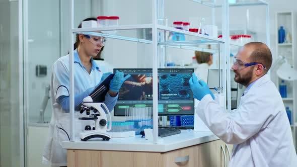 Multi Ethnic Team Studying DNA Mutations