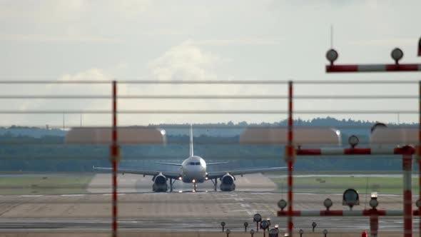 Thumbnail for Jet Airplane Braking After Landing