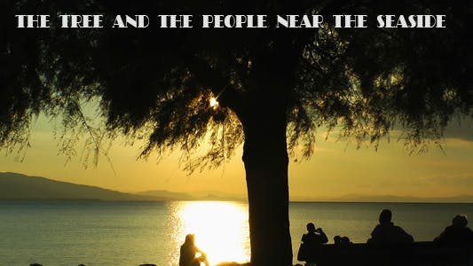 Thumbnail for Tree and People Sitting Near the Seaside