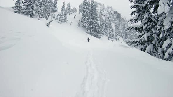 Thumbnail for Snowboard Hiking Backcountry Fresh Powder Mood