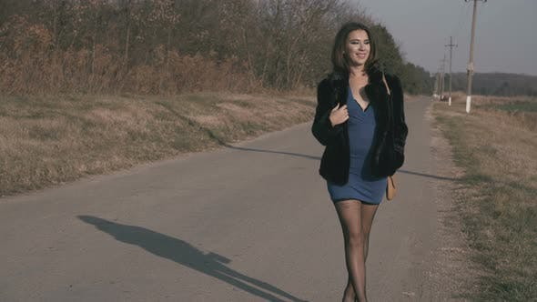 Thumbnail for Female Prostitute Standing On The Road