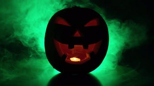 Halloween Pumpkin Scary Fog