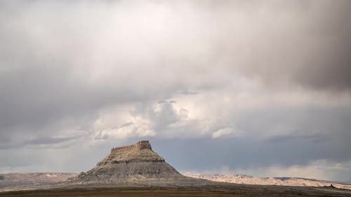 Time lapse of storm moving through the desert over Factory Butte