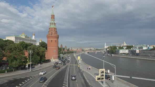 Thumbnail for The Kremlin And Car Traffic On The Kremlin Embankment - Moscow, Russia
