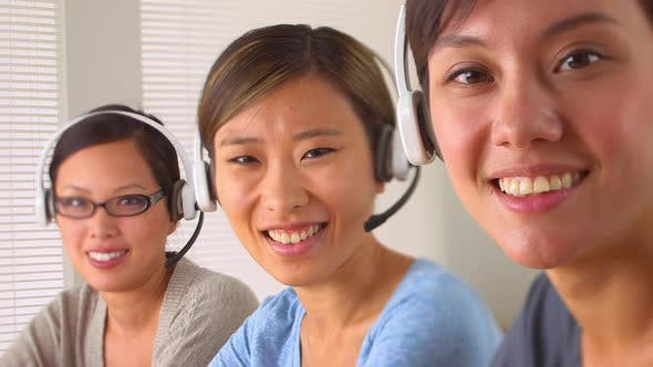 Thumbnail for Happy Chinese customer support team