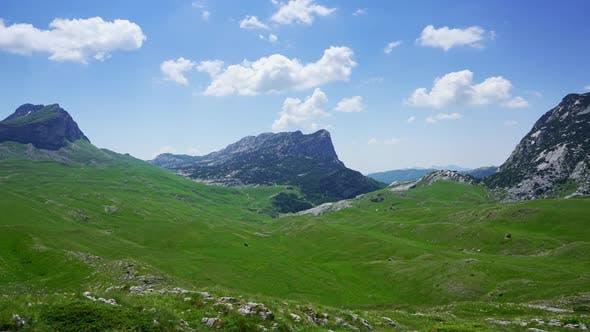 Thumbnail for Mountains in Park Durmitor, Montenegro, Timelapse