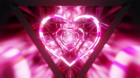 Neon Hearts VJ Tunnel