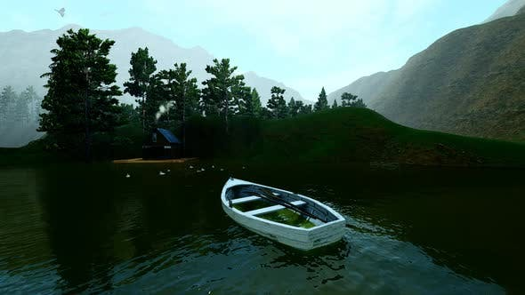 Thumbnail for Empty Boat Swinging On The Lake