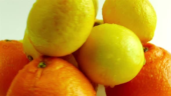 Citrus Rotating Against White Background