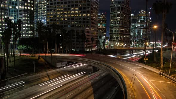 Traffic In Los Angeles 4K