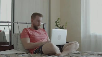 Male Freelancer Working From Home