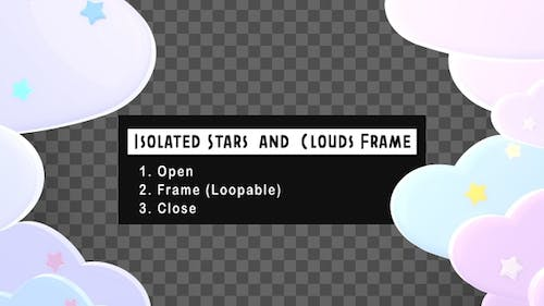 Isolated Stars And Clouds Frame Pack