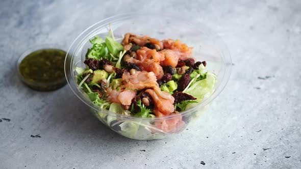 A Smoked Salmon Take Away Salad