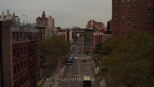 Low Flight Through Manhattan, New York City Street, Chinatown