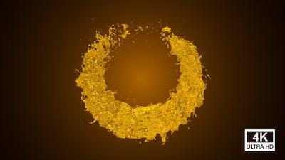 Pure Oil Circle Splash 4K
