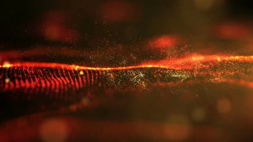 Futuristic Digital Red Abstract Particles