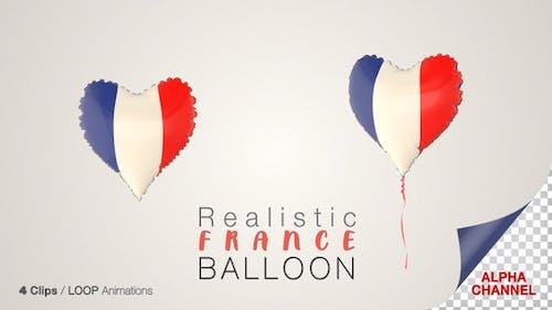 France Heart Shape Balloons