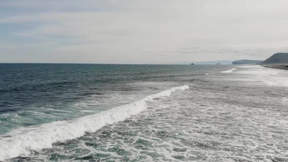 Atlantic Ocean Aerial View