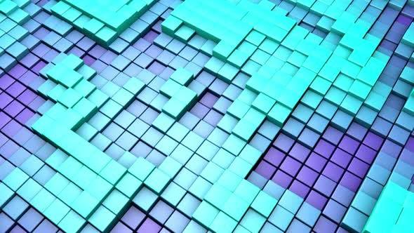 Tanzende Cube-Elemente