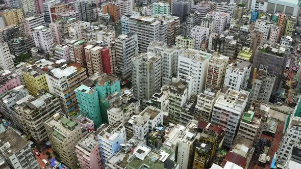 Cover Image for Top view of Hong Kong city